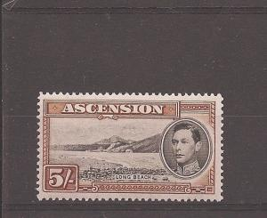 Ascension 1938 KGVI 5/- SG 46 MOG (dbs)