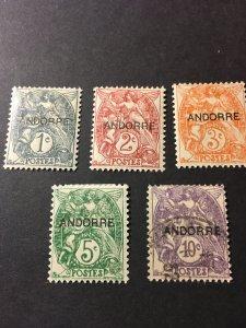 Andorra French Admin sc 1-5 MH+U