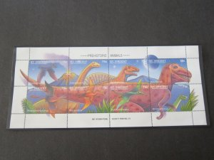 St Vincent 1994 Sc 2045 Bird Dinosaurs set MNH