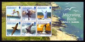 Alderney 214a Birds Souvenir Sheet MNH VF