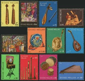 Greece 1158-1169,MNH.Michel 1217-1228. Popular musical instruments,1975.