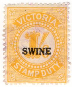(I.B) Australia - Victoria Revenue : Swine Duty 1/6d