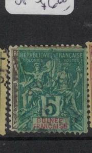 French Guinea SC 1, 4 VFU (10duj)
