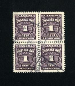 Canada #J15   used block  1933-65 PD  .45