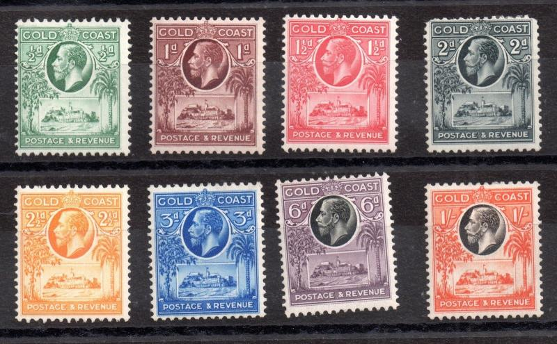 Gold Coast KGV 1928 mint MH set to 1/- SG103-110 WS3536