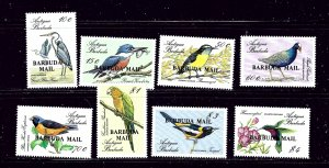 Barbuda 952-59 MNH 1988 Overprints on Bird Set of Antigua
