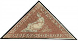Cape of Good Hope Scott 1b Gibbons 1a Used Stamp
