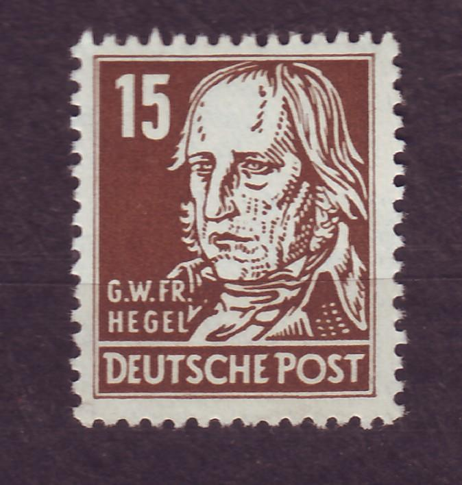 J14667 JLstamps 1953 germany DDR mnh #126 hegel wmk 297
