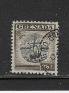 GRENADA #160    1951  25c  SAIL BOAT  F-VF  USED  a