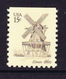 1741 Illinois Windmill MNH single
