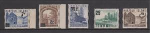 Norfolk Island 1958 & 1960 Overprints Scenes Sc#21-22, 26-28 Mint
