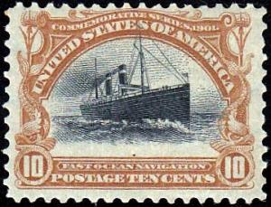 U.S. 299 fine Large Shift, Rising Ship Error, Unused, HR. See Scans.