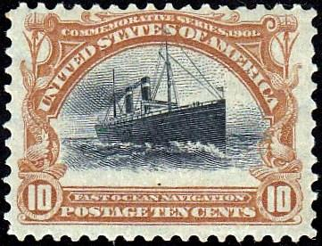 U.S. 299 f/vf Large Shift, Rising Ship Error, Unused, HR. See Scans.