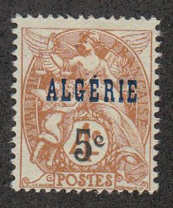 Algeria #4 Surcharged (Scott# 75) MH
