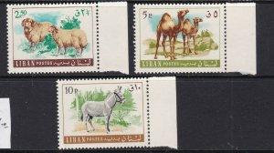 LEBANON ^^^^^sc# 455-457  MNH set    (  ANIMALS ) $$$$@ dcc51lib