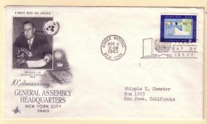 United Nations FDC Sc. # 119 10th Anny. General Assy.    ...