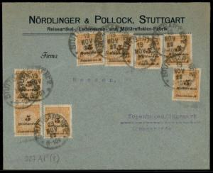 Germany Inflation Cover Nov 19 1923 Last Day Rate to Denmark 40 Billion Ma 72693