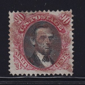 122 VF+ used Rare RED cancel with nice color cv $ 2800 ! see pic !