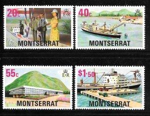 Montserrat 370-373: Ship, Hospital, Jetty, MH, VF