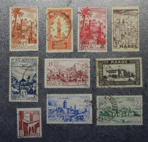 MOROCCO  FRANCE   Stamps stock page 2A     ~~L@@K~~