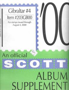 Scott Gibraltar #4 Supplement 2000
