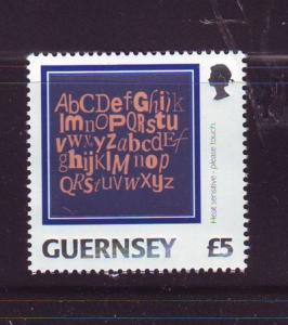 Guernsey Sc 809 2003 £5 Letters of the Alphabet stamp mint NH