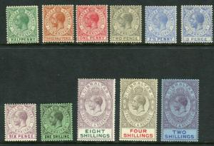 GIBRALTAR-1921-7  A mounted mint set of 11 values Sg 89-101