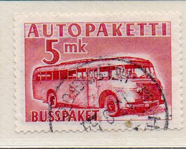 Finland Sc Q6 1952 5 mk Mail Bus Parcel Post stamp used