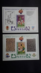 Sao Tome and Principe 1982. - Football - World Cup Spain 82 Bl 2x ** MNH