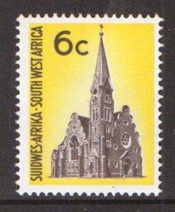 South West Africa  #324  MNH  1971  Christchurch  6c