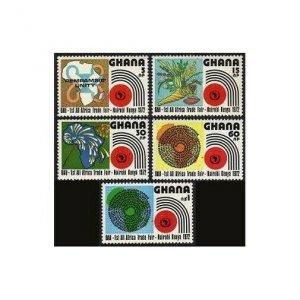Ghana 440-444,MNH.Michel 453-457. All-Africa Trade Fair,1972.Map,Fireworks.