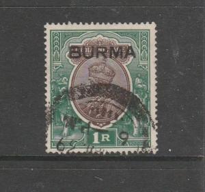 Burma 1937 !r Used SG 13