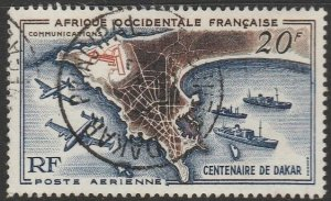 French West Africa, #C23 Used From 1958