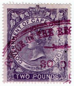 (I.B) Cape of Good Hope Revenue : Duty Stamp £2 (1873)