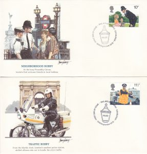 1979, Great Britain: Bobbies of Britain, Grp 5, FDC (S18763)