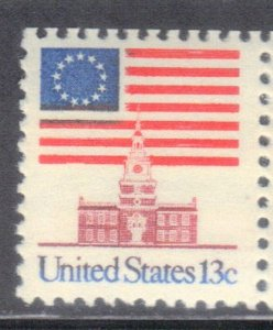 USA SCOTT #1622  FLAG OVER INDEPENDENCE HALL  1975   13c SEE SCAN