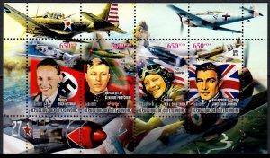 IVORY COAST 2011 WORLD WAR II AIRCRAFT PILOTS GUERRE MONDIALE WELTKRIEG [#1166]