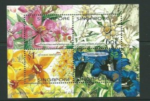 SINGAPORE SGMS1126 2001 SINGAPORE & SWITZERLAND JOINT ISSUE MNH