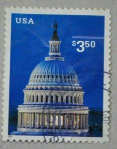 US SCOTT #3472 $3.50 CAPITAL DOME PRIORITY MAIL 2001 SELF-ADHESIVE used