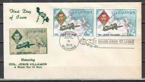Philippines, Scott cat. 1186-1187. Fighter Planes issue. First day cover.