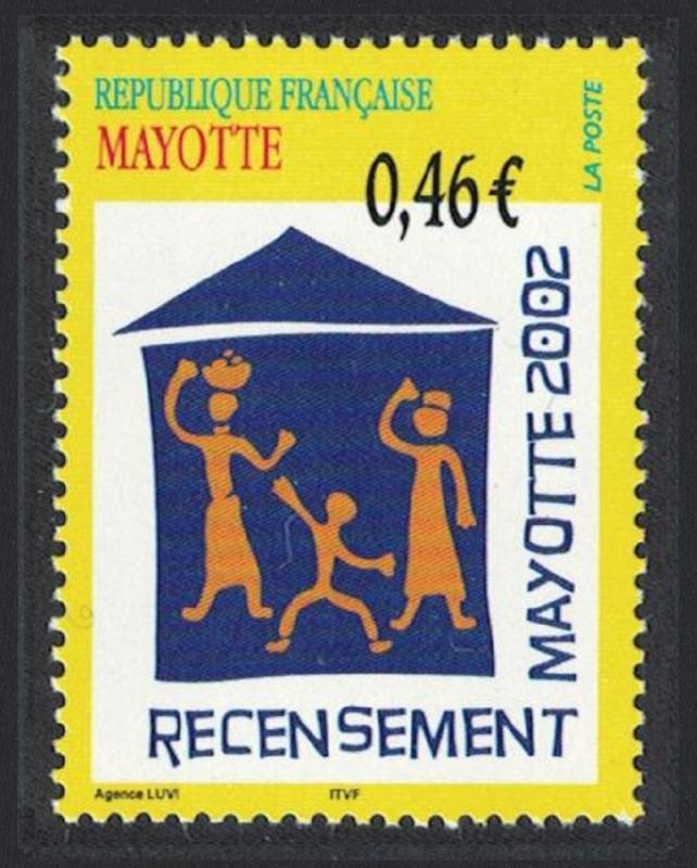 Mayotte National Census 1v SG#172