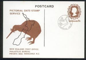 NEW ZEALAND 1981 25c postcard SCOUT JAMBOREE HASTINGS cds..................89873
