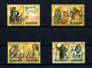 AITUTAKI - 1977 - CHRISTMAS - NATIVITY - KINGS - EGYPT - MINT - MNH SET!
