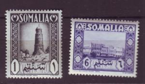 J19968  Jlstamps 1950 somalia mnh #170, 172 designs