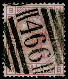 SG141, 2½d rosy mauve, USED. Cat £85. MB