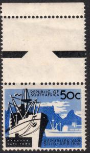 South Africa 1961 50c Cape Town Harbour MUH Marginal