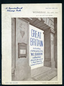 1951 Robson Lowe Specialised Great Britain Auction Catalogue (BK#31).