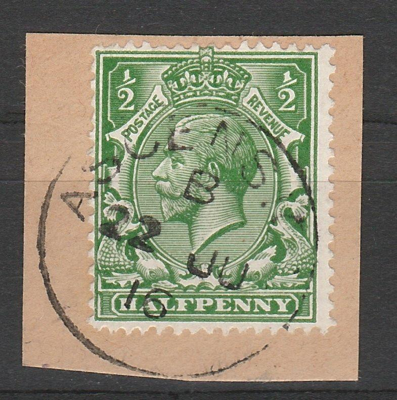 ASCENSION 1912 KGV GREAT BRITAIN 1/2D WITH ASCENSION POSTMARK