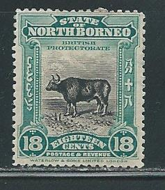 North Borneo 147 18c Wild Ox single MH