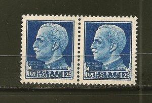 Italy 223 Victor Emmanuel III Pair Mint No Gum